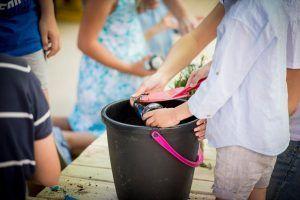actividades con niños huerta